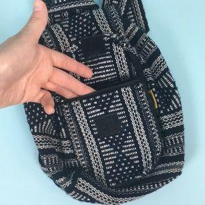 Vintage Bags - Vintage Mini Mexico Boho Backpack